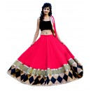 Wedding Wear Pink & Black Lehenga Choli - 225