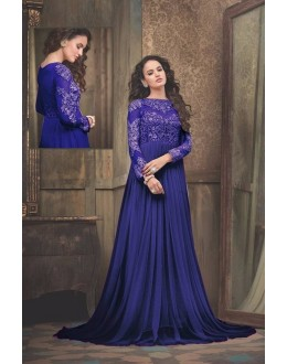 Eid Special Party Wear Net Blue Gown - 301
