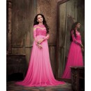 Eid Special Party Wear Net Pink Gown - 304