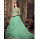 Eid Special Party Wear Sea Green Gown - 305