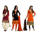 Combo of Maroon , Black , Orange Party Wear Salwar Suit - DAV_Com4