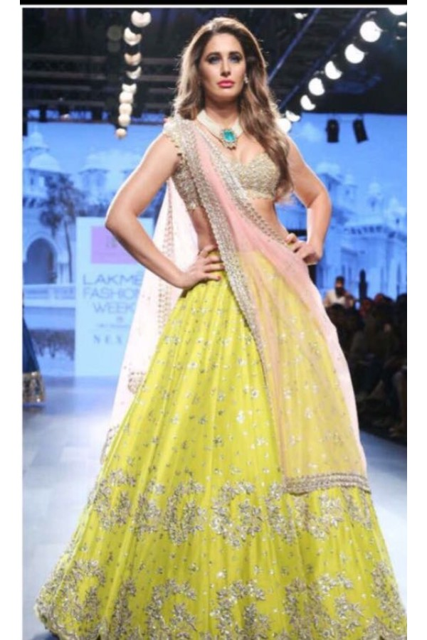 Bollywood Inspired - Wedding Wear Lehenga Choli  - 9748