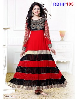 Latest Kali Designer Red And Black Salwar Kameez - RDHP105-7002 (RD-9032)