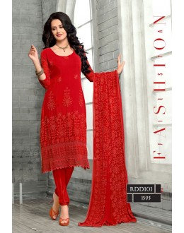 New Latest Red Hot Fashion Dress Materials - RDD101-1593 (RD-9032)