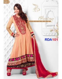 New Preeti Jhangiani Heavy Orange Embroidered Anarkali Suit - RDA101-7003 (RD-9032)
