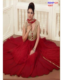 Party Wear Designer Maroon Georgette Anarkali Suit - RDHP121-1007 (RD-9032)