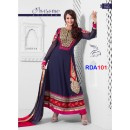 Preeti Jhangiani Heavy Navy blue Length Embroidered Anarkali Suit - RDA101-7004 (RD-9032)