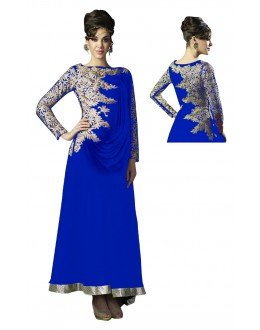 Eid Special Designer Royal Blue Georgette Embroidered Fancy Anarkali Suit-RDHP152-03 ( RD-9032 )