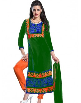 Designer Embroidered Green Georgette Long Straight Cut Salwar Suit-RDHP163-1040 ( RD-9032 )