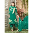 Ethnic Wear Green Georgette Salwar Suit  - 10541