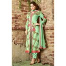 Ethnic Wear Light Green Georgette Salwar Suit  - 10543