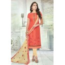 Office Wear Orange Brasso Cotton Salwar Suit  - 13745