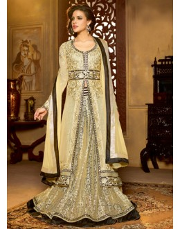 Ethnic Wear Cream Georgette Anarkali Suit  - 13847