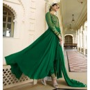 Party Wear Green Royal Georgette Slit Anarkali Suit  - 14844