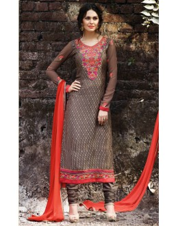 Festival Wear Brown Brasso Salwar Suit  - 14890