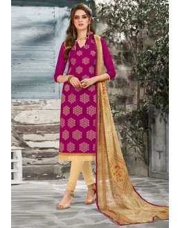 Festival Wear Pink Chanderi Salwar Suit - 15052