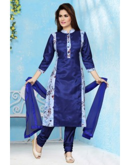 Festival Wear Readymade Blue Salwar Suit - 15653