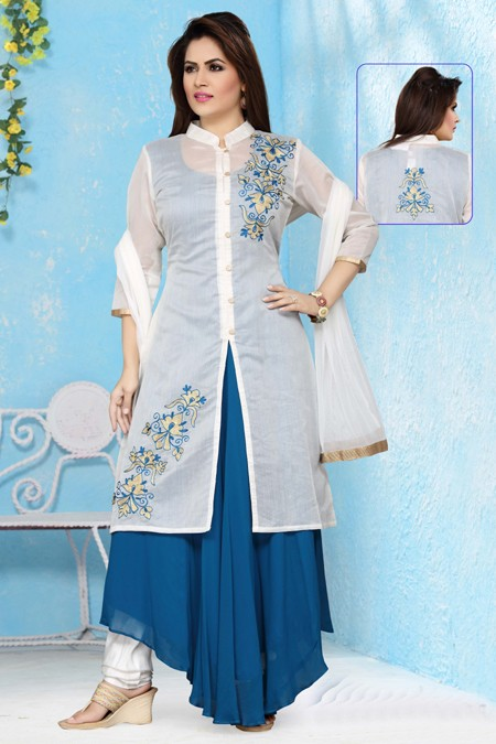 Festival Wear Readymade Georgette Salwar Suit - 15658