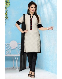 Office Wear Readymade Jacquard Salwar Suit - 15662