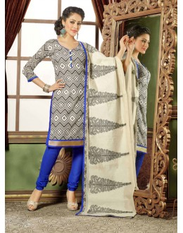 Ethnic Wear Multi-Colour Chanderi Salwar Suit - 15748