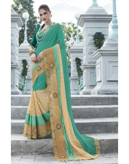 Festival Wear Multi-Colour Georgette Saree - 15776