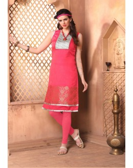 Office Wear Readymade Pink Kurti - 15850