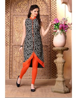 Party Wear Readymade Black Kurti - 15853