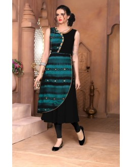 Ethnic Wear Readymade Black Kurti - 15854