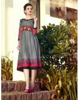 Office Wear Readymade Grey Kurti - 16015