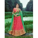 Wedding Wear Gajari Banarasi Silk Lehenga Choli - 16311