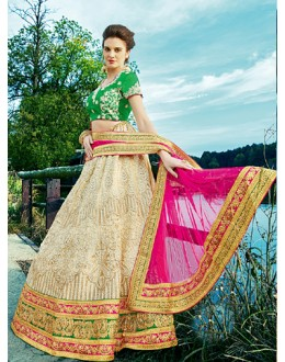 Traditional Off White Net Lehenga Choli - 16314