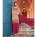 Festival Wear Grey Pure Cotton Patiyala Suit - 16321