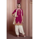 Pink Colour Pure Cotton Patiyala Suit - 16323