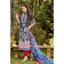 Ethnic Wear Navy Blue Cambric Cotton Salwar Suit - 16413