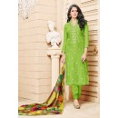 Office Wear Light Green Chanderi Cotton Salwar Suit - 16754