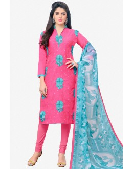 Ethnic Wear Pink Chanderi Salwar Suit - 16779