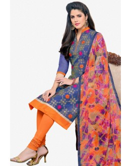 Festival Wear Blue Chanderi Salwar Suit - 16780