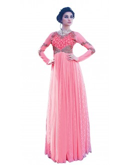 d27739435f9 Party Wear Pink Net Gown - 16782
