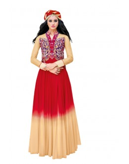 Festival Wear Multi-Colour Velvet Anarkali Suit  - 16790
