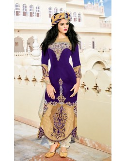 Ethnic Wear Multi-Colour Velvet Salwar Suit  - 16795