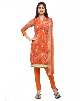Orange Colour Georgette Salwar Suit - 16810