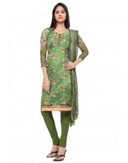 Georgette Green Embroidery Salwar Suit - 16812