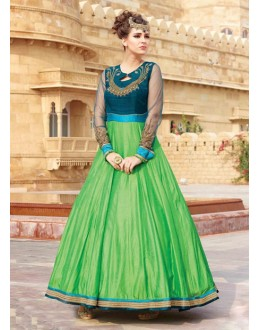 Readymade Traditional Pure Taffeta Gown - 16877