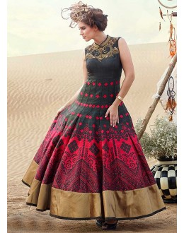 a0bfbe71a47 Quick View Party Wear Ready-Made Pure Bhgalpuri Gown - 16884