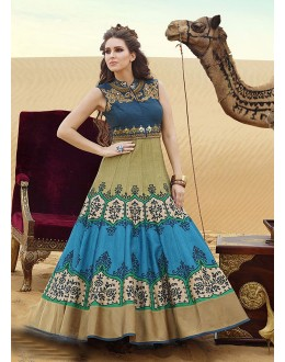 Wedding Wear Ready-Made Pure Bhgalpuri Gown - 16888