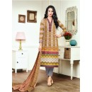 Ethnic Wear Multi-Colour Satin Cotton Salwar Suit - 16898