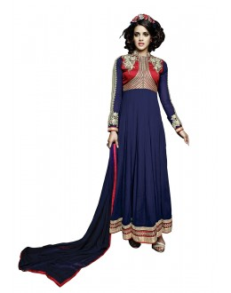 Ethnic Wear Blue Georgette Anarkali Suit  - 16901