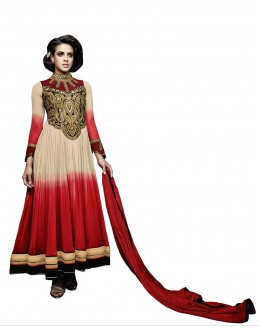 Festival Wear Multi-Colour Georgette Anarkali Suit  - 16906