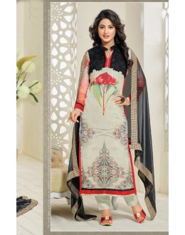 Hina Khan In Multi-Colour Georgette Salwar Suit - 16914
