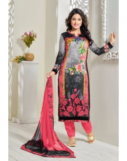 Hina Khan In Multi-Colour Georgette Salwar Suit - 16915